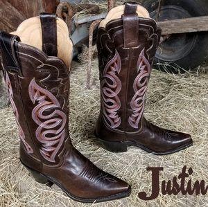 NWT Justin cowboy boots 6B